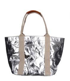 Cabas Paper Metal Bag PM Doré - UASHMAMA  Argent