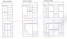 Variedad de distribuciones a medida para interiores de armario