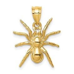 14K Polished Spider Pendant / STYLE: D4569
