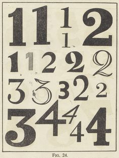 Numbers - Lovely Typography