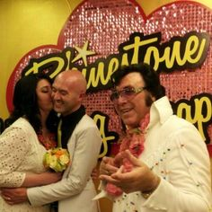Valerie and John Just Married at The Rhinestone Wedding Chapel!