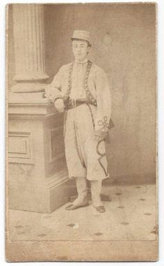 CIRCA 1860's CIVIL WAR CDV ZOUAVE in STUDIO VIEW | eBay