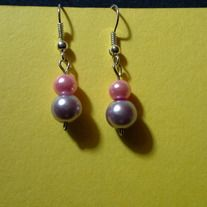 Products · Pink and Purple Simple Pearls · Birds & Beads's Store Admin Bead Store, Pearl Earrings, Drop Earrings, Purple, Pink, Birds, Pearls, Jewelry, Products