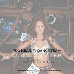 Show up to your NBA/NFL dancer audition feeling prepared with these audition outfit and prep tips!