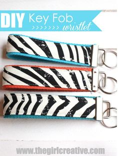 DIY Key Wristlet by @Diana {the girl creative} #MichaelsFabric