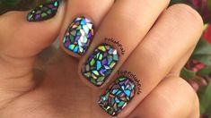 Shattered glass manicures are the latest nail art trend creating a buzz. Here's how to get the look without stepping foot in a salon.