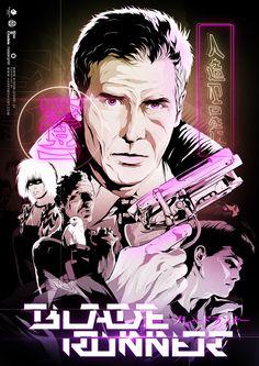 Blade Runner Poster - Created by Harijs Grundmanis