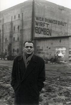 """Hochbunker, Berlin, actor Bruno Ganz. (Film still from """"Der Himmel über Berlin"""" by  Wim Wenders, 1980s)."""