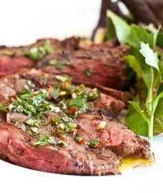 Skirt Steak with Chimichurri Sauce - Steamy Kitchen Recipes