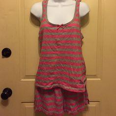 Pink and gray stripe sleepwear set Pink and gray stripe sleepwear set Jessica Simpson Intimates & Sleepwear Pajamas