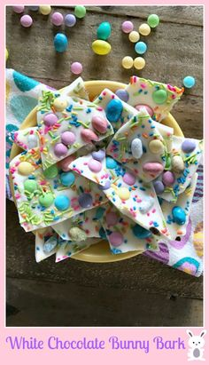 White Chocolate Easter Bunny Bark » Skinny Sweets Daily
