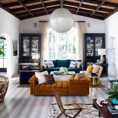 Serious lounge love. Room created by Nate Berkus.