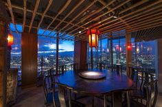 Hutong at The Shard, London LIGHTING: into lighting INTERIOR: SAY Architects