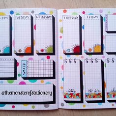 Hi everyone! Here is a new #weeklyspread  I wanted to combine the #creations that I've done over the weeks and I really like how it turned out  Enjoy! . . . #bujo #bulletjournal #bujojunkies #bujocommunity #bujoweekly #bujomonthly #bulletjournaljunkies #bulletjournaling #bulletjournalcommunity #planner #stationery #stickers #washitape #stickynotes #todolist #ideas #habittracker #handlettering #study #studygram #create #stationeryaddict #stationeryjunkie #artstagram #arts #stationerymonste...