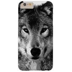 Black & White Wolf Eyes iPhone 6 Plus Case
