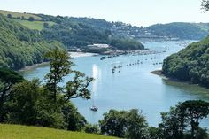 Views over the River Dart from Agatha Christie's house at Greenway, Devon - http://www.worldwidewriter.co.uk/2013/09/greenway-house-that-inspired-agatha.html