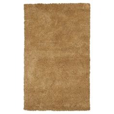 """Gold Solid Shag or Flokati Accent Rug - (2'3"""" x 3'9"""") - Kas Rugs"""