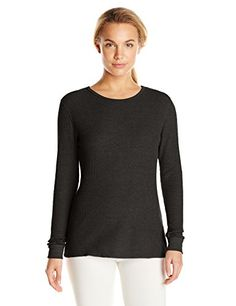 Fruit of the Loom Women's Waffle Thermal Underwear Top, Black Soot, Small ** READ MORE INFO @: http://www.best-outdoorgear.com/fruit-of-the-loom-womens-waffle-thermal-underwear-top-black-soot-small/