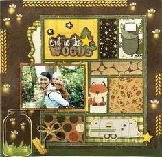Bo Bunny Scrapbook Layouts | scrapbook layouts