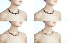 Alice McLean-- Thermochromatic necklace that turns gold when warmed by a wearer's skin