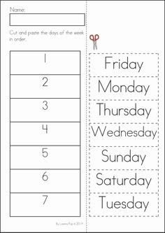 days of the week 1 worksheet days of the week pinterest the o 39 jays spelling and. Black Bedroom Furniture Sets. Home Design Ideas