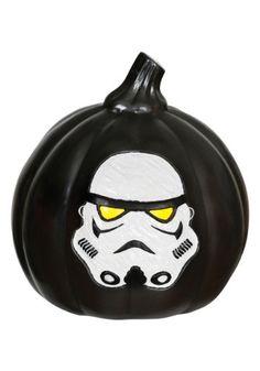 Star Wars Stormtrooper Light-Up Black Pumpkin
