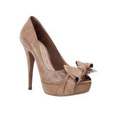 Miu Miu Shoe brown shoe with bow