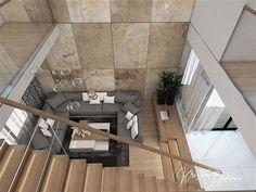 Návrh rodinného domu Rodinný dom s wellness, pohľad zo schodiska do obývačky Stairs, Patio, Outdoor Decor, Home Decor, Ladders, Homemade Home Decor, Yard, Terrace, Stairway