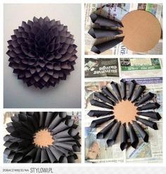 DIY: paper flower wall decor