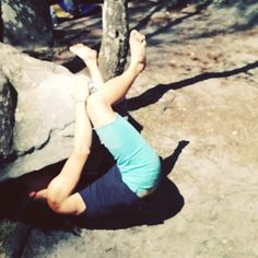 """@jeromemowat's photo: """"Vicki Hau of #3rdrocking #bouldering/wrestling with Le Crocodile 6A in #fontainebleau. Can you call this #rockclimbing? Who cares?! It's a lot of #fun! #ourplanetourplayground #thisgirlcanclimb #thisgirlcanclimb #climbing_pictures_of_instagram #climbing"""""""