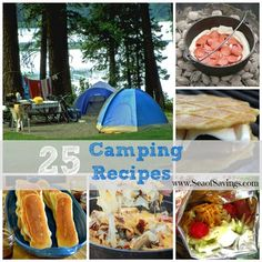 25 Camping Recipes!  Lots of yummy favorites and minimal prep time!