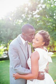 Beautiful African American Bride & Groom