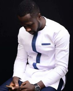 Bespoke African shirt, African men clothing, African wear, H African Shirts For Men, African Dresses Men, African Attire For Men, African Clothing For Men, Latest African Fashion Dresses, African Men Fashion, African Wear, African Clothes, Africa Fashion
