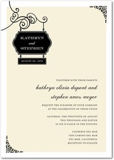 These were our wedding invitations!