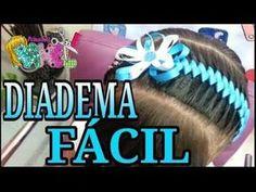 Encintado Cadeneta para un Peinado - Chain Weave for a Hairstyle - YouTube