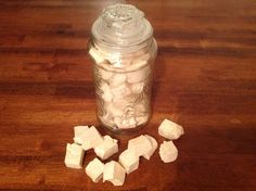 Real Deal Marshmallows: 1 c water; 1 tbsp marshmallow root; 4 tbsp gelatin; 1 c honey; 2 tsp vanilla. (See website for preparation steps.) Marshmallow root was used for inflammation and sore throats; Gelatin is a good source of natural collagen and is great for hair, skin and nails. Found on An Organic Wife
