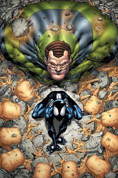 Spider-Man vs Sandman by Patrick Scherberger