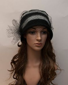 Trendy veiled beany hat- New hat in my Etsy shop for coming winter season