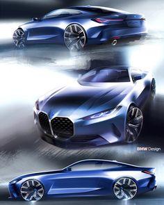 2021 BMW 4 Series Official Sketches Explain Divisive Design Choice - autoevolution Bmw Sketch, Car Design Sketch, Yacht Design, Bmw Design, New Bmw 3 Series, Car Brands Logos, Latest Bmw, Luxury Private Jets, Skyline Gtr
