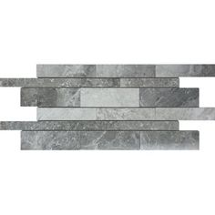 Shop Avenzo X Valensa Gray Marble Strip Mosaic Floor And Wall Tile At Lowes Canada Find Our Selection Of Tiles The Lowest Price Guaranteed With