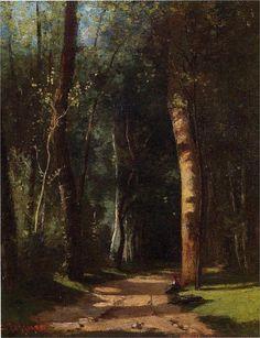 In the Woods - Camille Pissarro