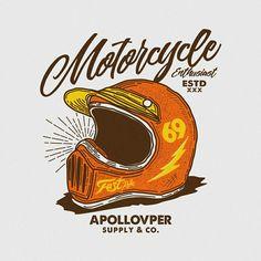 Ideas Bike Illustration Design Graphics For 2019 Motorcycle Posters, Motorcycle Art, Bike Art, Bike Illustration, Graphic Design Illustration, Badge Design, Logo Design, Media Design, Design Reference