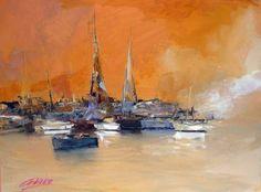 "Saatchi Art Artist Andres Vivo; Painting, ""4095  Afternoon at Punta del Este"" #art"