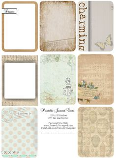 Free Journaling cards... search the blog for more.