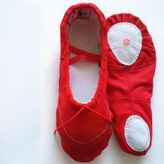 Girls Red Ballet Shoes