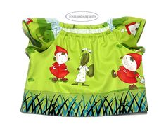 Top and Shorts set, size 3-4 Girl, Little Red Riding Hood, lined side pocket