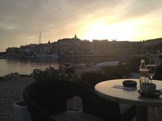 #foto #croazia #paesaggio #sembra #un #quadro #tramonto #piccola #cittadina