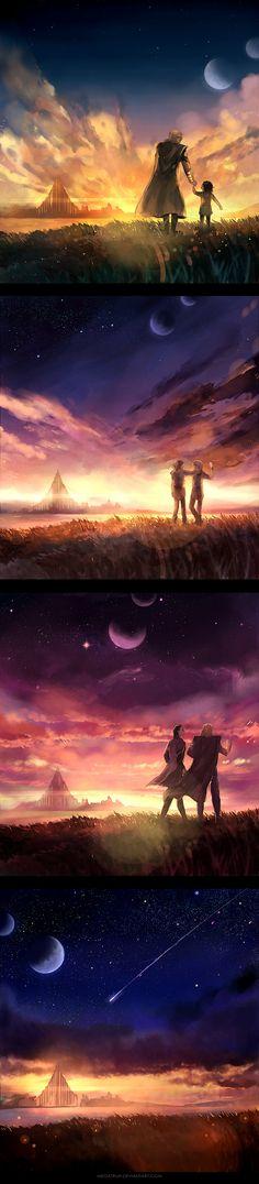 nostalgia for the light , by *megatruh on deviantART. Thor and Loki