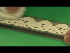 How to make edible lace pieces with RVO molds by Alan Tetreault of Global Sugar Art