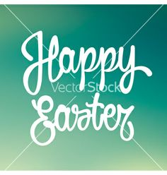Happy easter hand lettering vector by doctorletters on VectorStock®
